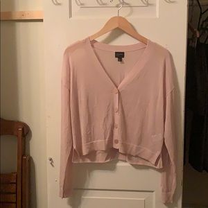 Sheer light pink cardigan